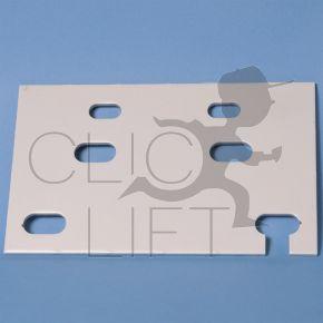 Flat T guide clip 75 x 62 x 10 mm