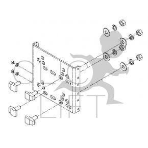 Cam and base - Bracket set on guide rail for SOLIMAX shaft sensor