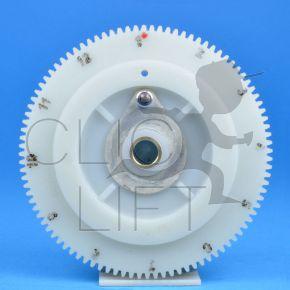 Nylon gear wheel for selector