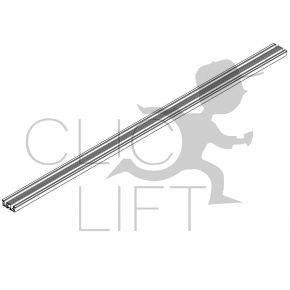 Aluminum threshold SD20 cabin and bearing PL 1100 2 leaves telescopic opening 90x30x1690