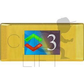 """3.5 """"case without gong, mirror gold finish"""